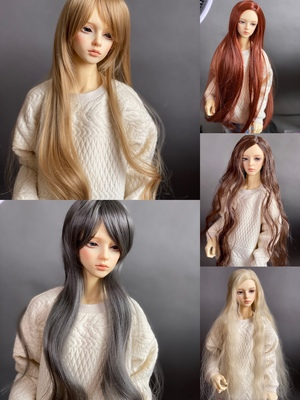 taobao agent Spot bjd wig 3 points uncle old sauce fragrant old hair loss blood loss, suitable for practicing hand-changing hair long hair version