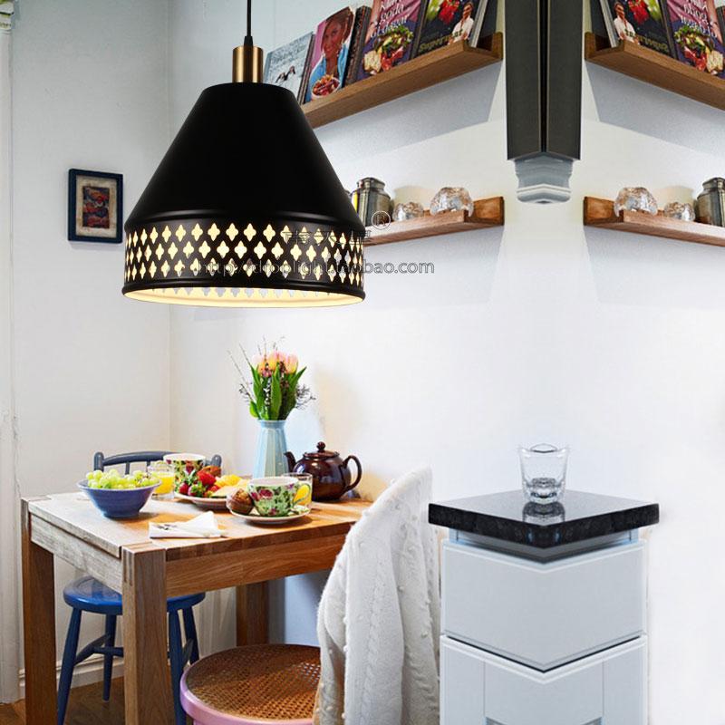 蛋糕店卡座咖啡甜品店灯具吊灯工业风复古铝材锅盖镂空花雕花吊灯
