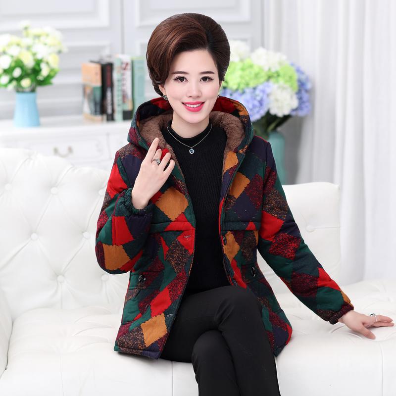 冬装棉袄中年人羽绒棉服短款