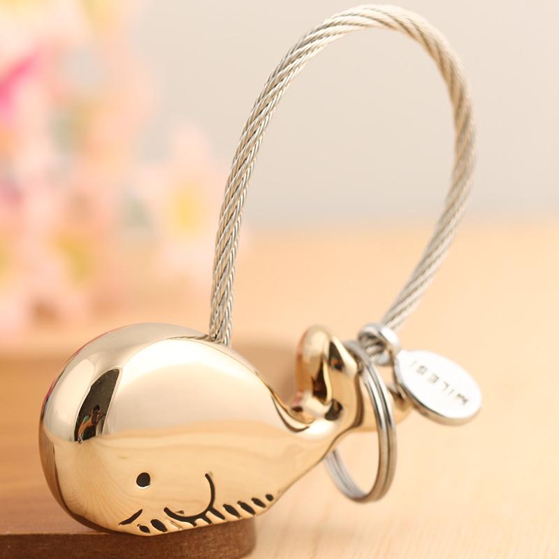 定制情侣钥匙扣一对刻字可爱创意简约高档汽车挂件男女个性钥匙链