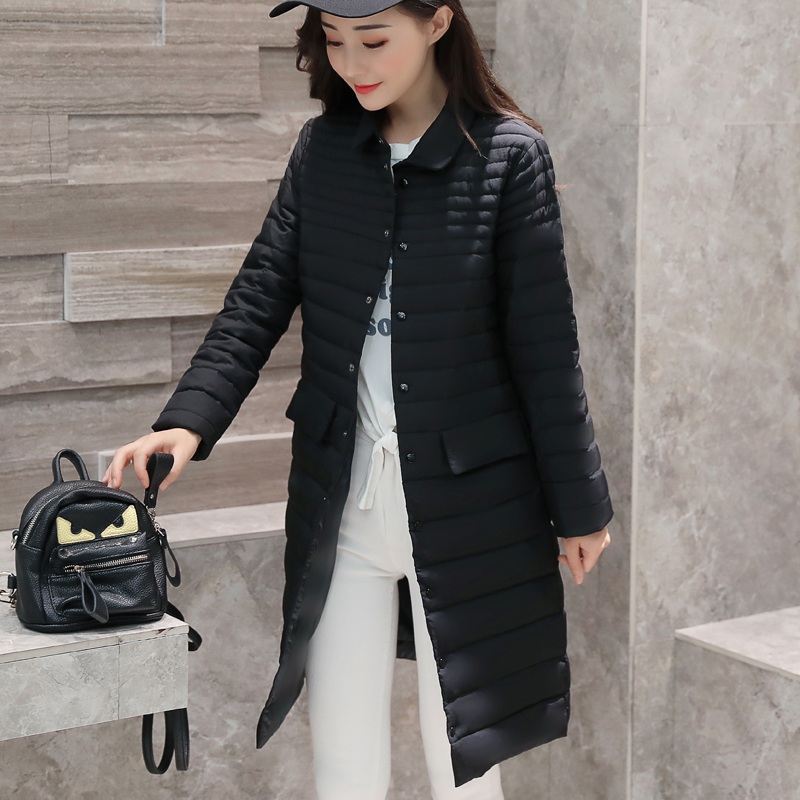 大量现货 支持大型活 动白鸭绒实拍2017秋冬新款轻薄羽绒服女