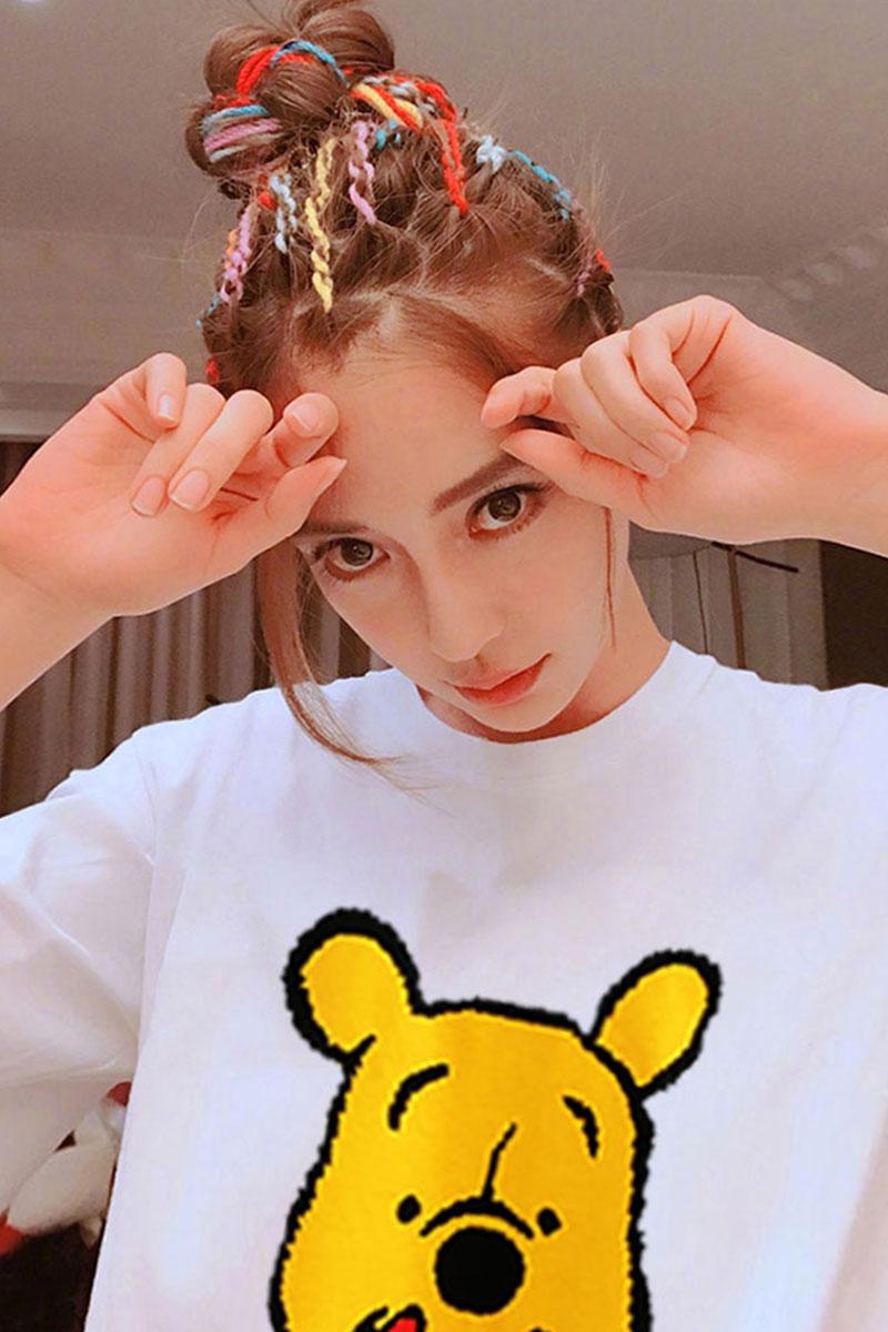 1504#2019夏季新款短袖女T恤潮流韩版港风学生宽松ins超火上衣女