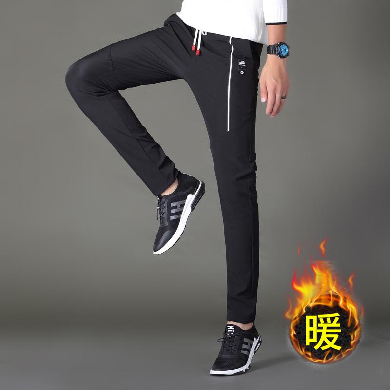 祖玛珑休闲裤男生宽松运动裤薄款修身黑色小脚休闲运动裤子男韩版
