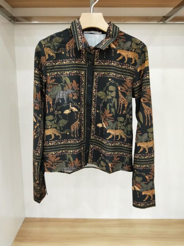 Европа и америка одежда бог новая девушка наряд печать рубашка женский пиджак  2073402 2073402 596633780708
