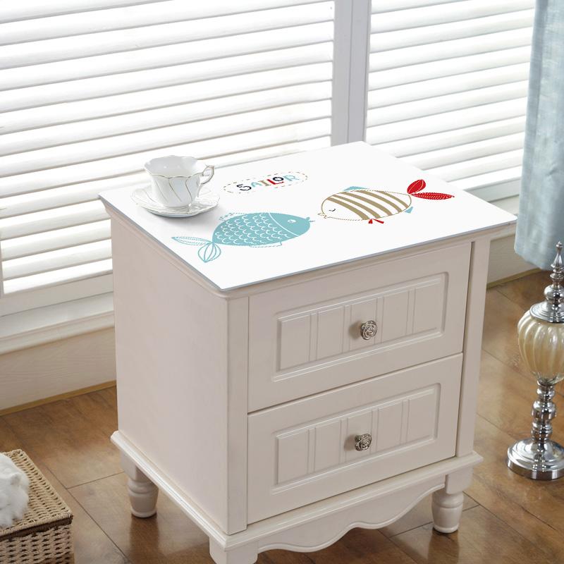 卡通床头柜桌布垫子PVC塑料防水防油免洗家用卧室网红盖垫软玻璃