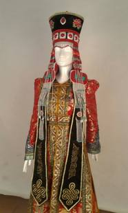 Mongolian headgear hat manufacturers national clothing accessories Mongolian robe accessories national clothing Mongolian wedding head