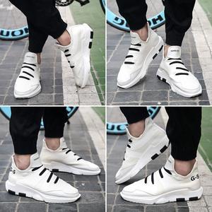 新款韩版男鞋秋季潮鞋男士休闲鞋百搭运动鞋小白鞋学生板鞋