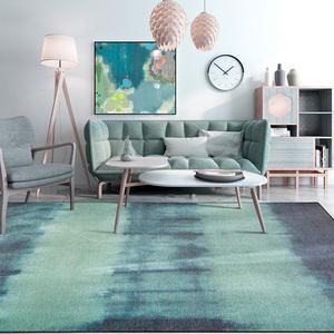 Đơn giản Nhật Bản sáng tạo gradient màu xanh bàn cà phê phòng khách thảm ins Bắc Âu phòng ngủ cạnh giường ngủ matless mat