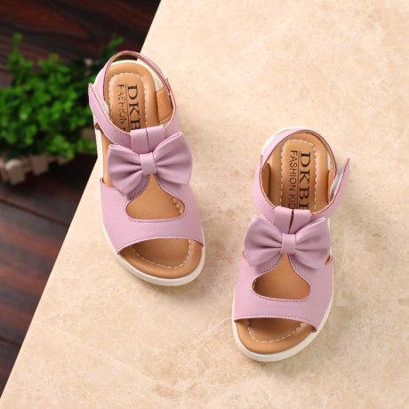 | Цена 1333 руб | Девочки сандалии лето 2020 новый натуральная кожа студент ребенок в больших детей чалма пирсинг сандалии корейский принцесса обувной волна
