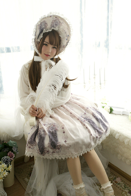 taobao agent Agent Rose Valley Exclusive Design【Nightmare spell】Double straps lolita half skirt sk out of stock