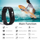 Heart Rate Blood Pressure Monitor Fitness Smart Wristband