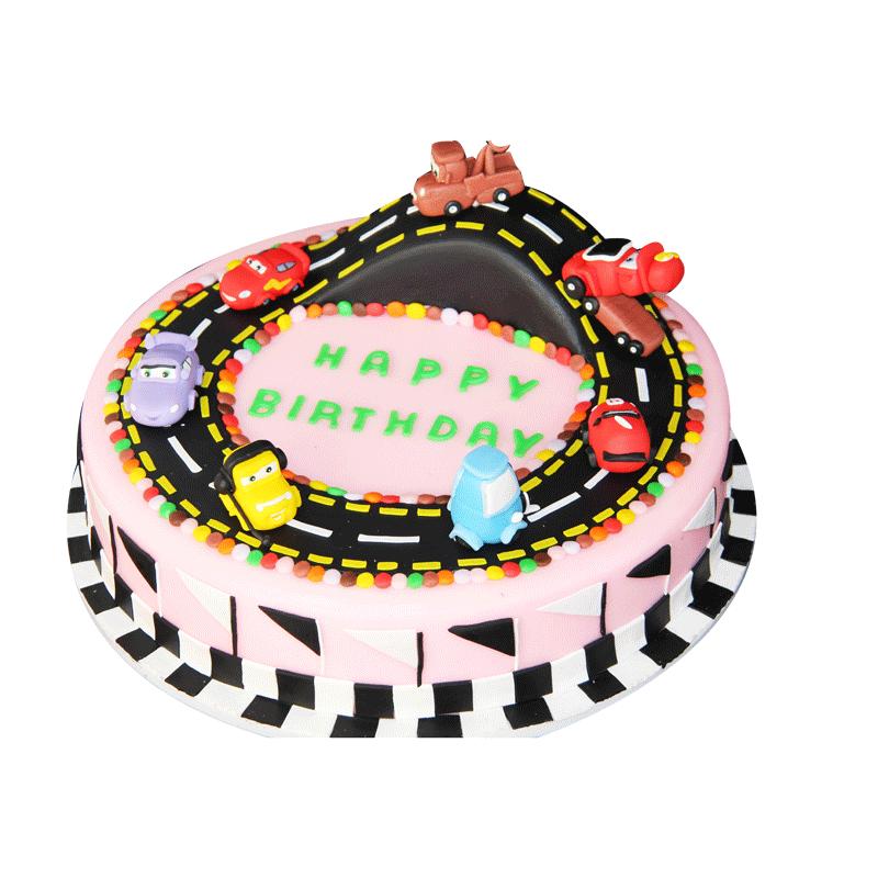 汽车跑道舞台道具塑胶摆件翻糖生日蛋糕模型模具仿真装饰新款样品