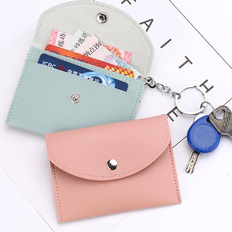 Siêu mỏng cá tính thẻ bag purse nữ đa chức năng túi đồng xu một gói mini key lưu trữ túi ví nhỏ