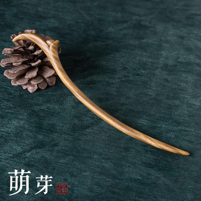 周广胜 手工雕刻 绿檀木 发簪 簪子 淘宝优惠券折后¥41.6起包邮(¥46.6-5)