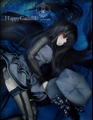 taobao agent BJD/SD 4 points 3 points doll clothes/baby clothes/cute vampire dress black and gray 1/4,1/3