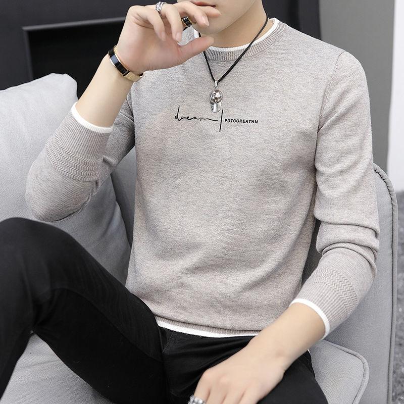 秋冬季男士加厚毛衣韩版线衣潮流保暖针织衫帅气男装打底衫潮