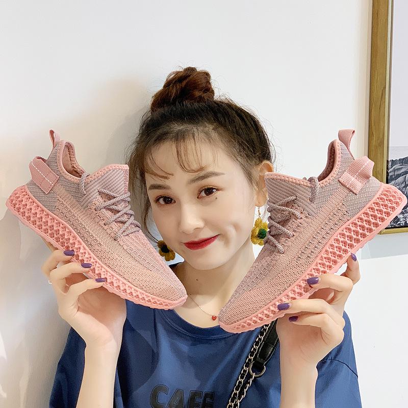 蛇纹椰子鞋女2019夏秋新款韩版百搭运动鞋女学生跑步休闲鞋女鞋子需要用券