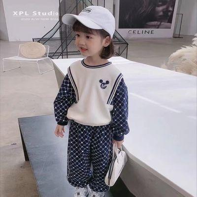 童装运动套装女童洋气两件套宝宝网红卫衣长裤儿童2021早秋装新款
