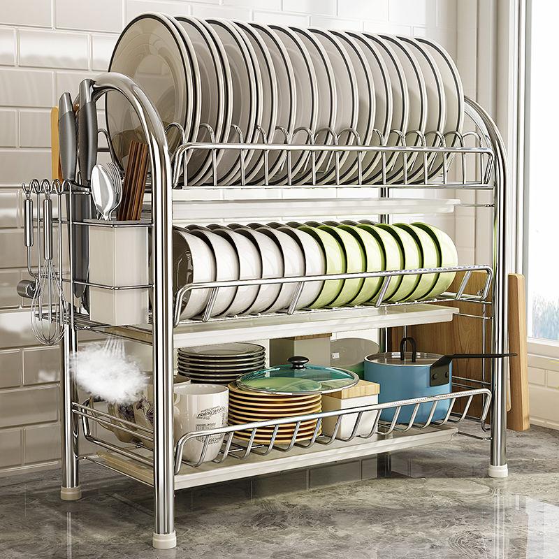沥水碗架刀架厨房置物架收纳架落地储物架
