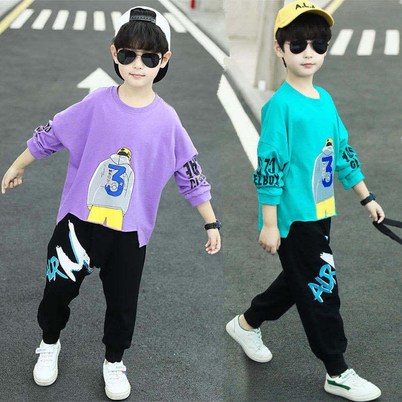 男童秋冬季卫衣套装童装2020新款潮流男孩时尚帅气中大童韩版儿童