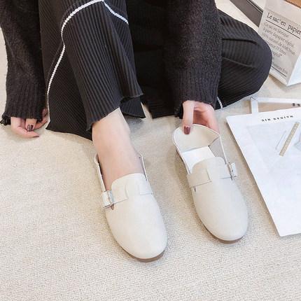 奶奶鞋平底一脚蹬懒人鞋<font color='red'><b>软</b></font><font color='red'><b>底</b></font>单鞋