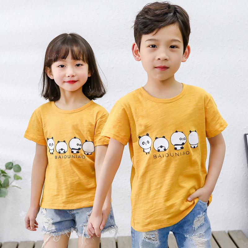 【拍2件16.6元】儿童竹节棉T恤短袖