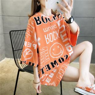 中长款t恤女短袖夏女装韩版宽松半袖上衣