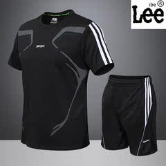 男士夏季运动套装年韩版新款T恤时尚休闲运动健身服速干两件套潮