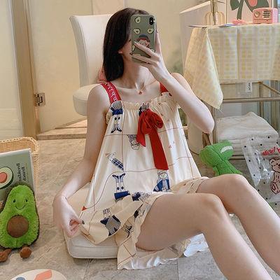 2020新款睡衣女士夏季少女吊带性感夏天可外穿春秋家居服两件套装