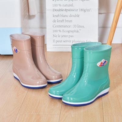 水鞋女低帮成人中筒雨鞋女加绒短筒时尚夏水靴女防滑雨靴女防水鞋