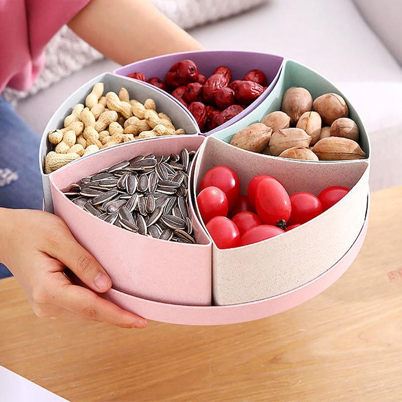 多格果盘干果盘糖果盒结婚家用水果盘