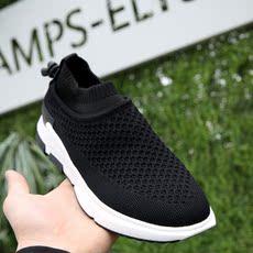 透气男鞋飞织鞋双层复合底网面鞋套脚休闲鞋运动鞋B346-205-P125