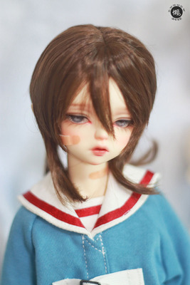 taobao agent Lazy baby bjd baby wig SD 3 4 points uncle giant baby docile soft and easy to lure jellyfish fake hair milk silk