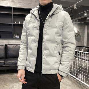 男士外套秋装冬季休闲棉服加绒上衣棉袄男装