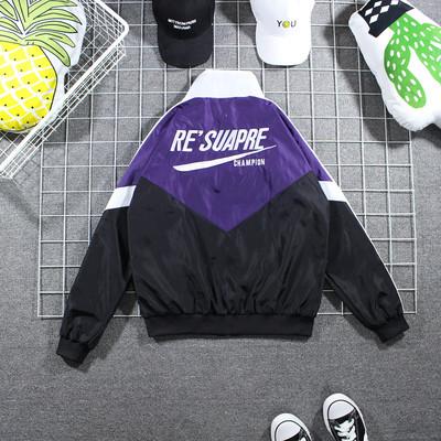 Tide thương hiệu hit màu drop vai loose áo gió Mỹ hip hop cao đường phố áo khoác tấn công mùa xuân và mùa thu vài áo thể thao phần mỏng Áo gió