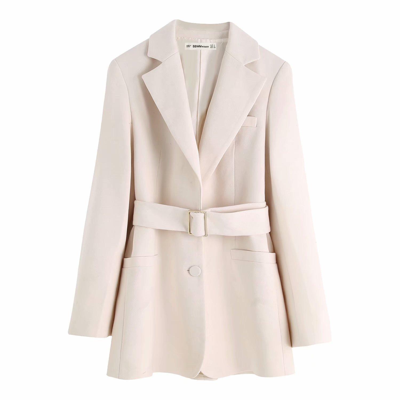 2019 осень британская мода с пояса костюм пальто случайный темперамент дикий по возрасту тонкий костюм куртка богиня 602084098301