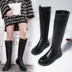 长靴2019秋冬季新款高筒靴厚底粗跟女靴子马丁靴3638-8