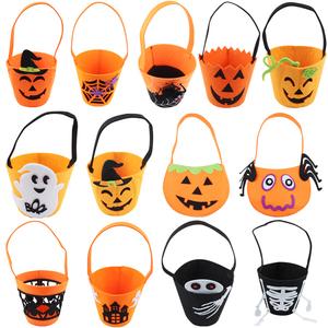 Halloween trang trí đạo cụ ăn mặc phụ kiện cung cấp cho trẻ em xách tay không dệt túi bí ngô quà tặng túi kẹo túi - Sản phẩm Đảng / Magic / Hiệu suất
