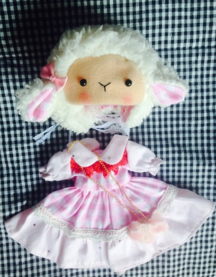 taobao agent 6 points dress bjd skirt 1/6 suit yosd lamb hat 4 points giant baby blythe small doll clothes