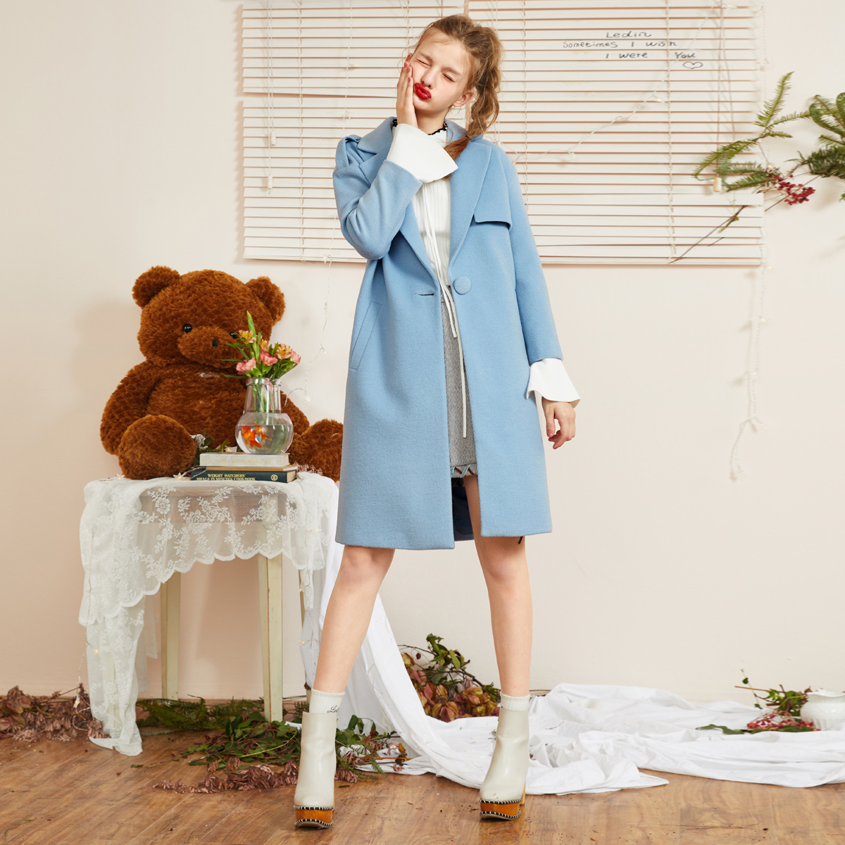 Lecho 2018 mùa xuân mới của phụ nữ Hàn Quốc phiên bản của áo gió áo len len lông cừu ulzzang áo