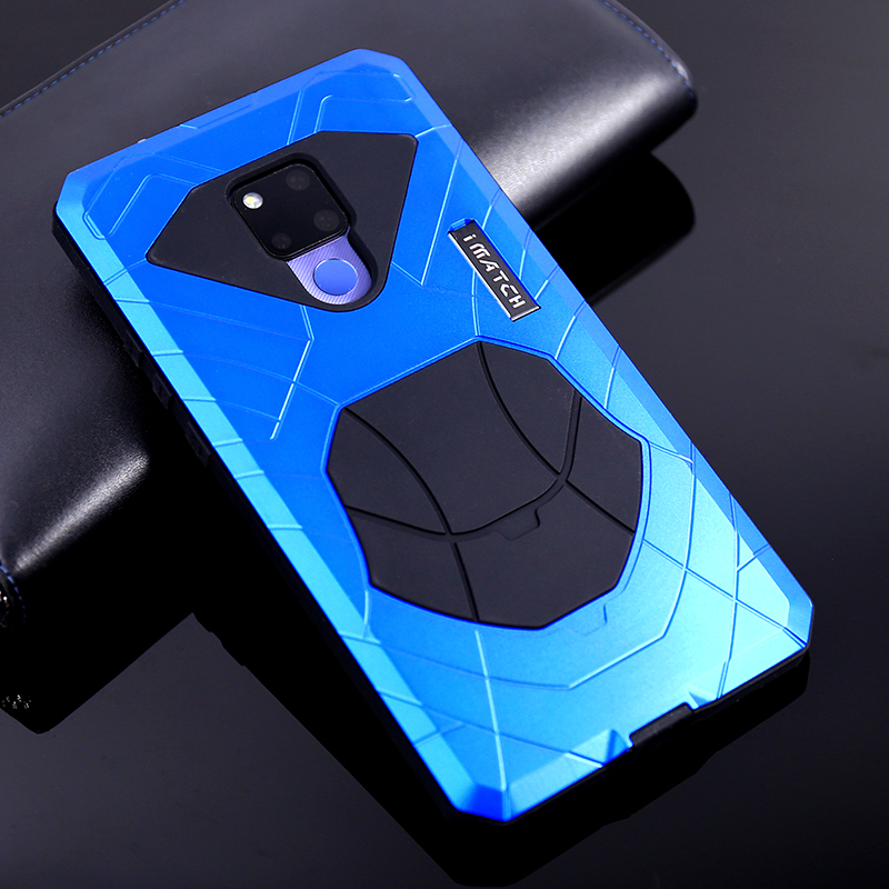 iMatch Water Resistant Shockproof Dust/Dirt/Snow-Proof Aluminum Metal Military Heavy Duty Armor Protection Case Cover for Huawei Mate 20 Pro & Huawei Mate 20 & Huawei Mate 20 X