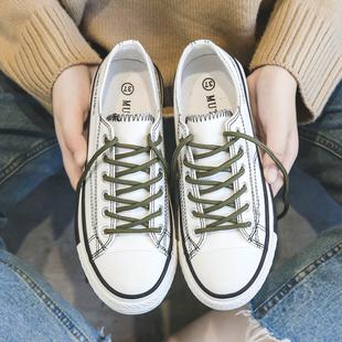 复古港风帆布鞋女学生chic原宿板鞋