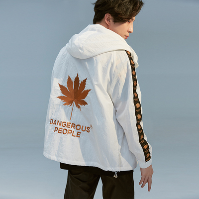 Những người nguy hiểm Xue Zhiqian DSP Maple Leaf Ribbon Sun bảo vệ Jacket Jacket Áo khoác