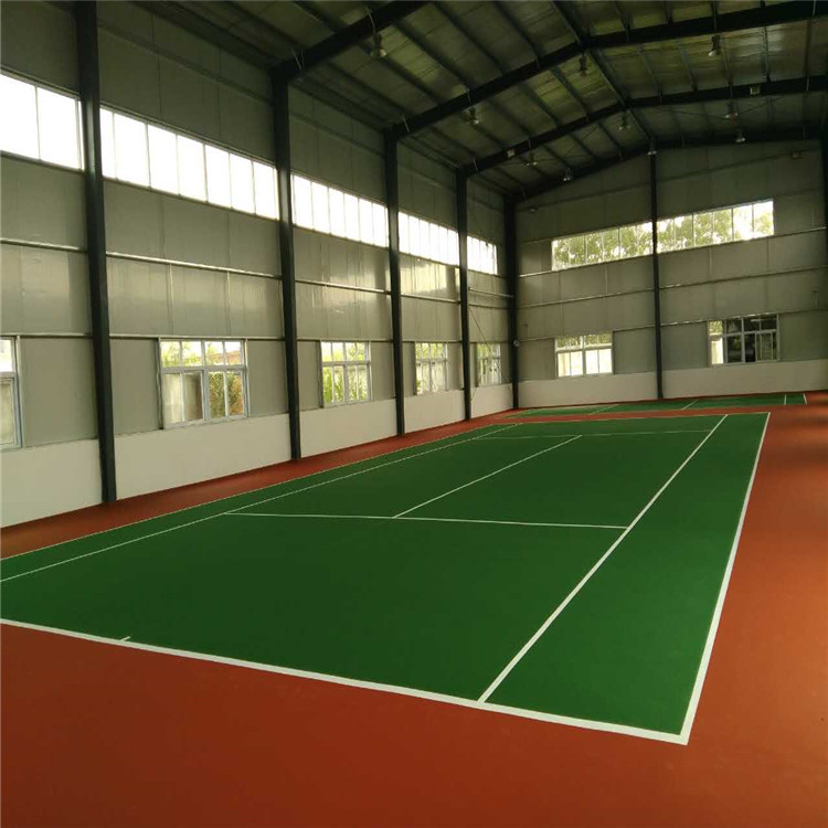 弹性丙烯酸球场材料室内外地坪涂料  网球场地面专用材料 网球场