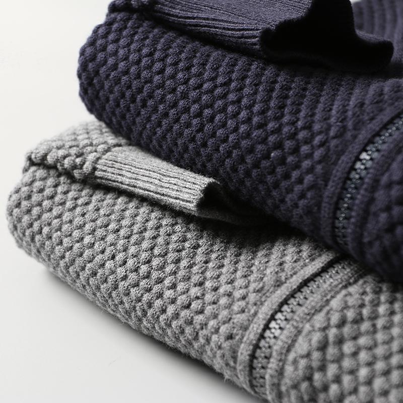 Kinh doanh thanh lịch 95% cotton 5% cashmere dứa kim thủ công nam cardigan áo len áo len áo DAZ385