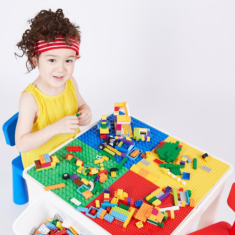 儿童玩具积木桌子大小颗粒多功能收纳积
