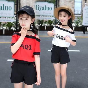 女童夏装套装时尚洋气夏季两件套