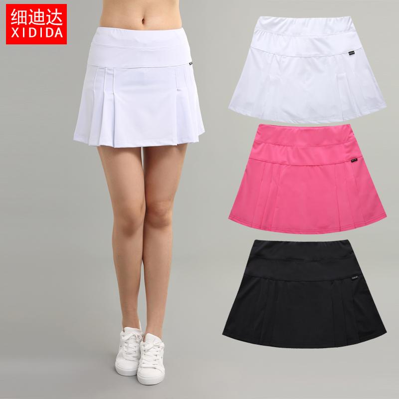 Mùa hè phụ nữ da trắng của new thể thao nữ cầu lông quần vợt váy nhanh khô thoáng khí xếp li chạy váy váy ngắn
