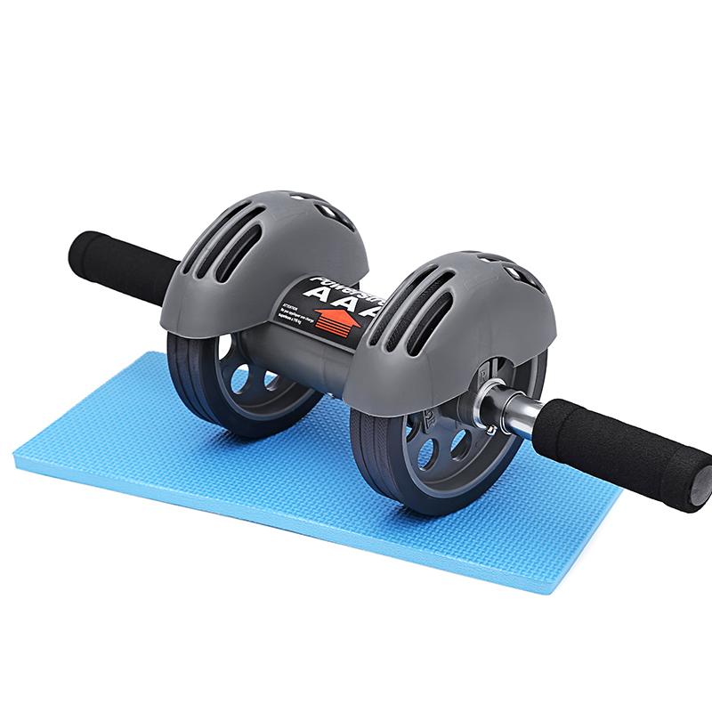 回弹式健腹轮静音男士胸肌训练 家用健身器材减肚子练腹部腹肌轮