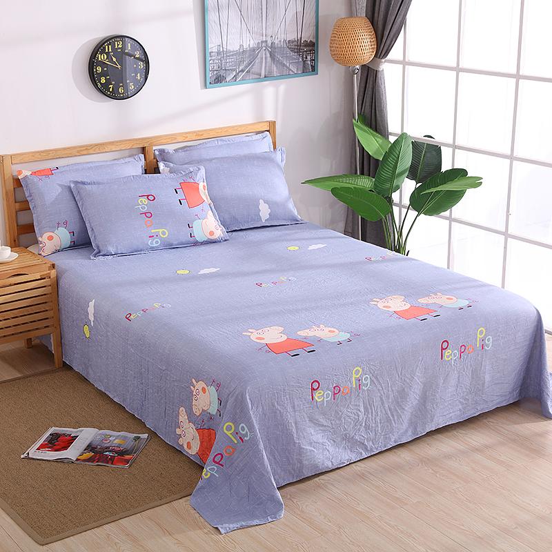 天天特价床单单件夏季卡通棉布1.5m1.8m双人2.0米单人床宿舍床单【优惠后10元包邮】